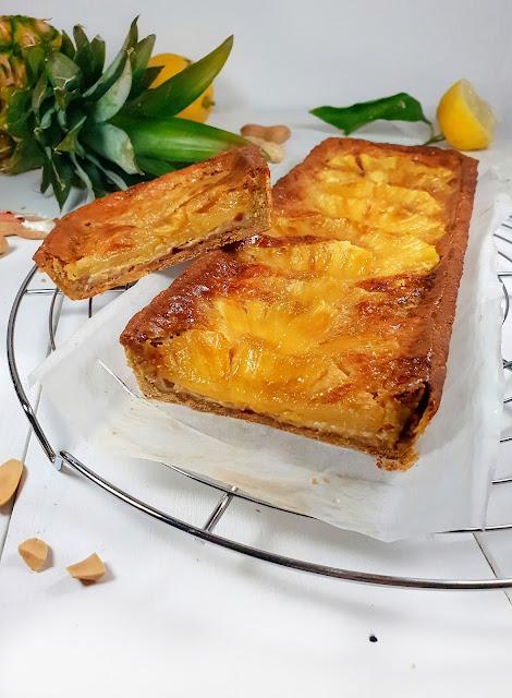 tarte coco ananas sans gluten, sans lactose, allégée