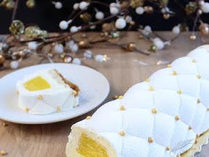 Bûche mangue vanille pour le Nouvel An