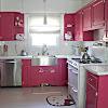 Dekorasi Desain Dapur Warna Pink Terbaru