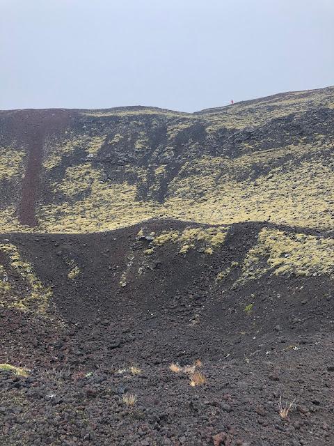 A peek inside Grabrok Crater.