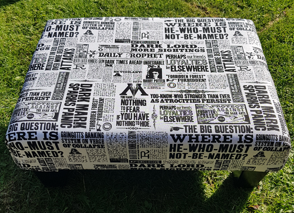 Reupholstered Harry Potter Stool