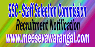 SSC (Staff Selection Commission) Recruitment Notification