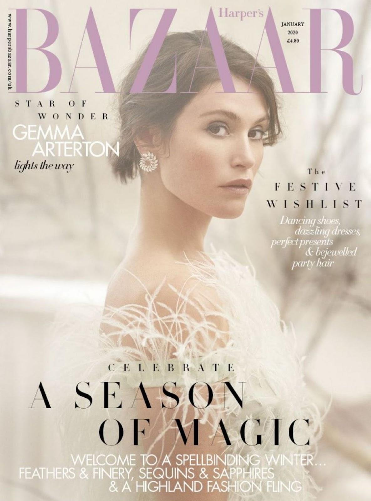 Vanity Fair Cover January 2020.Gemma Arterton In Harper Bazaar Magazine Uk January 2020