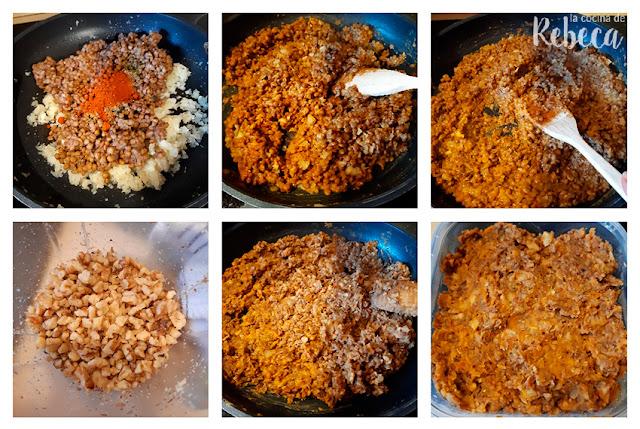 Receta de hamburguesa de lentejas: preparación de la masa