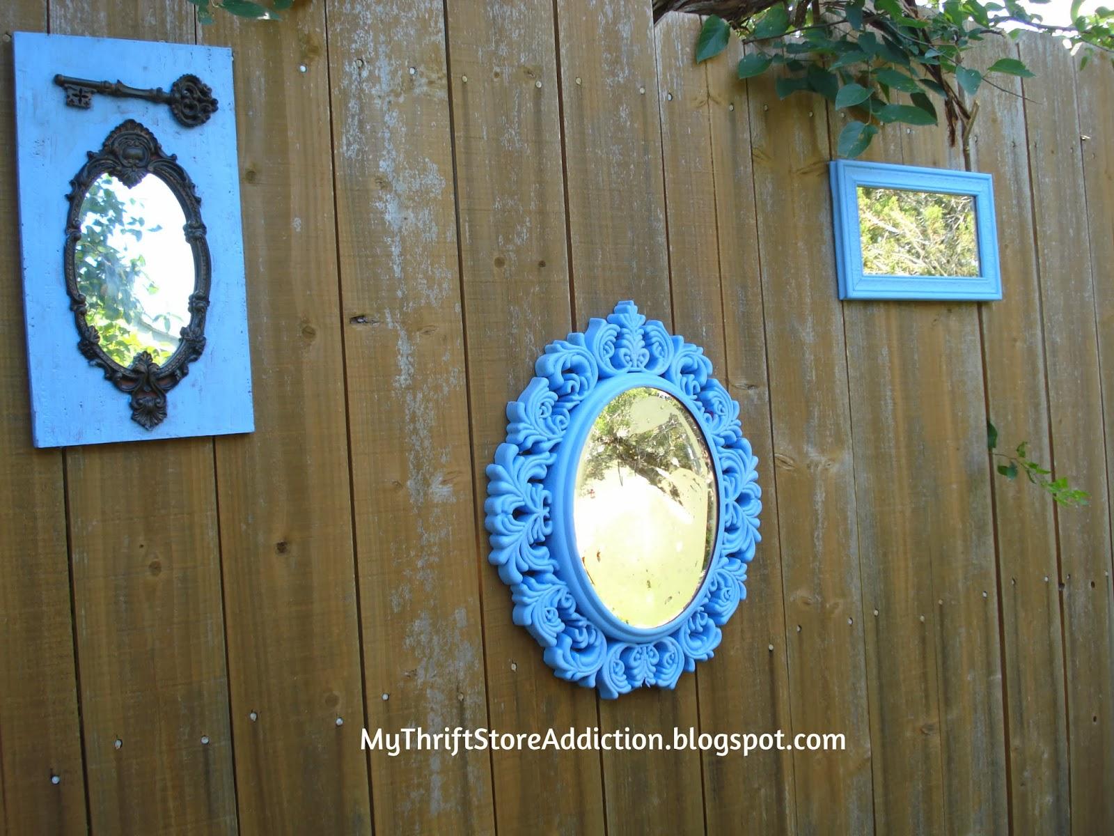 Mirror garden vignette