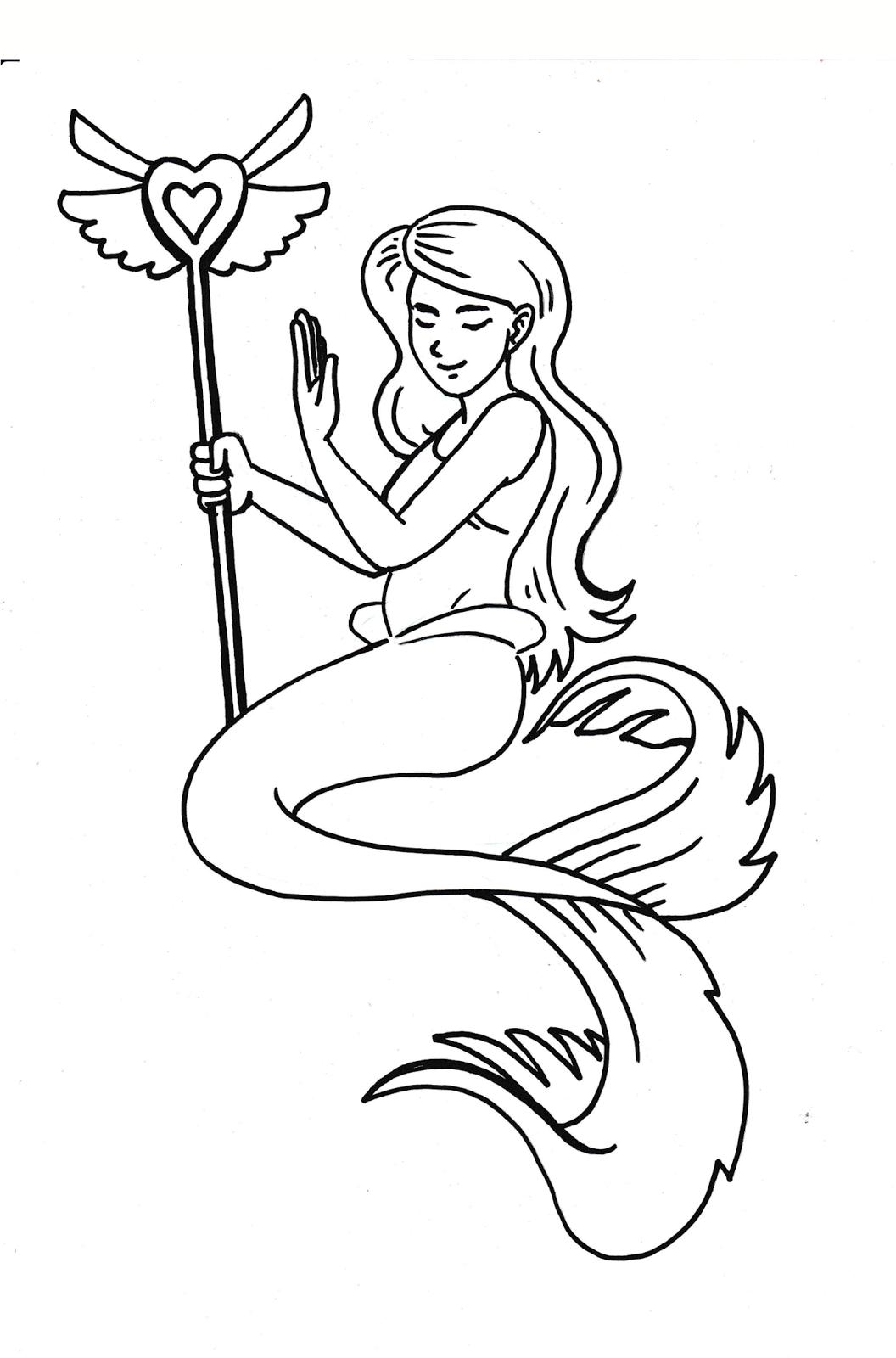 Kumpulan Gambar Sketsa Putri Duyung