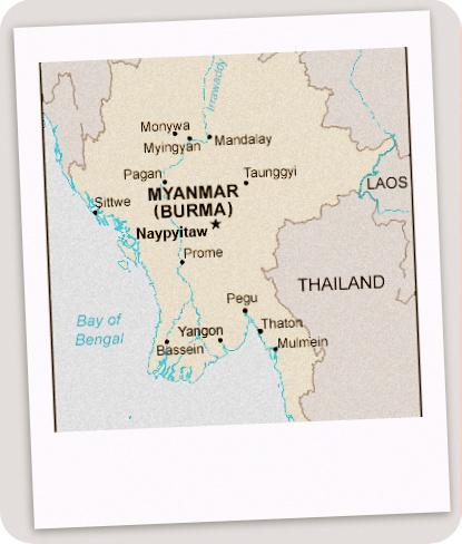 Letak Kondisi Geografis Myanmar (Anggota ASEAN)
