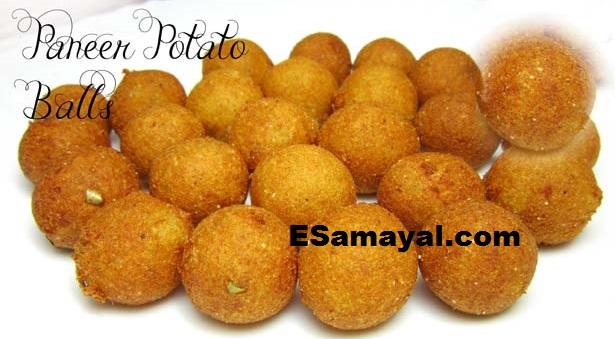 பன்னீர் உருளைக்கிழங்கு பால்ஸ் செய்வது | paneer potato Balls Recipe !
