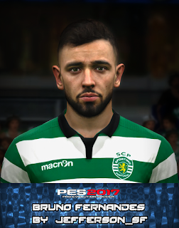 PES 2017 Faces Bruno Fernandes by FaceEditor Jefferson_SF