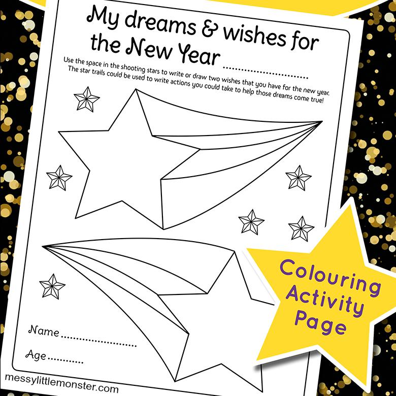 New Years Resolution Worksheet