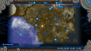 ingame map screen similar to Breath of the Wild