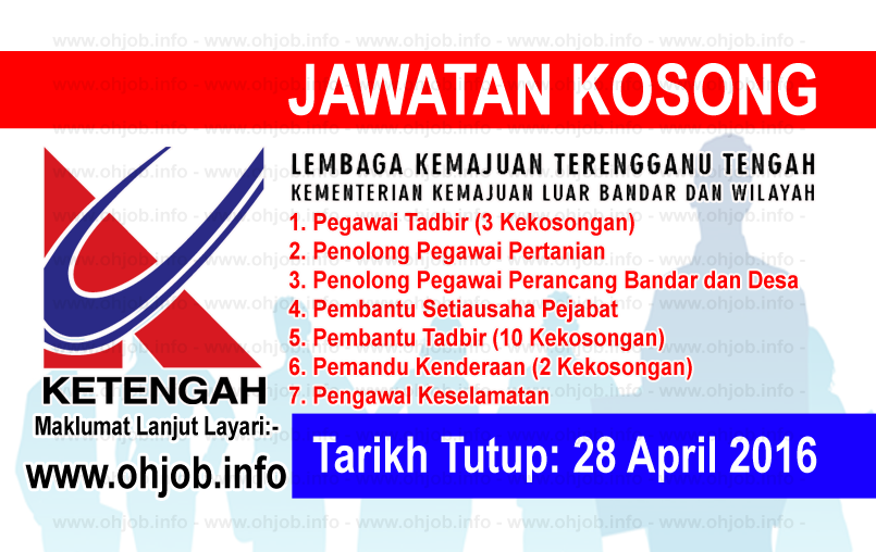 Jawatan Kerja Kosong Lembaga Kemajuan Terengganu Tengah (KETENGAH) logo www.ohjob.info april 2016
