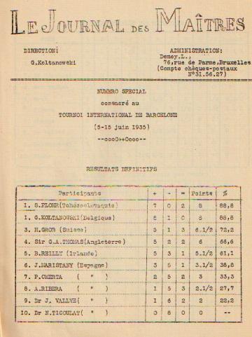Una de las páginas del libro de Koltanowski