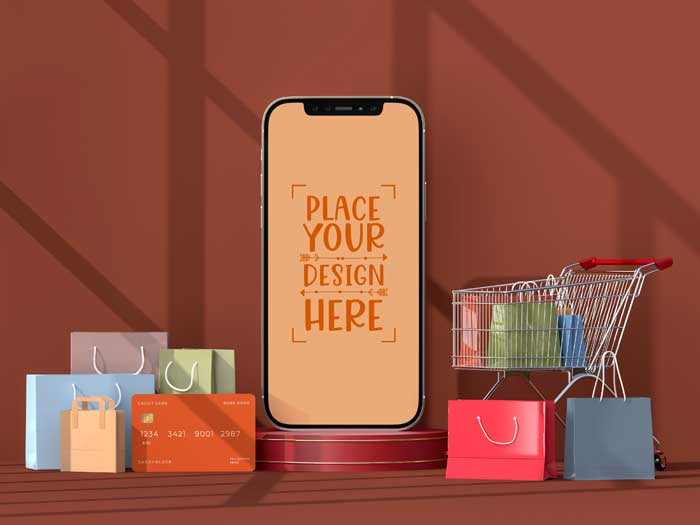 Online Shopping Mobile Mockup V-2