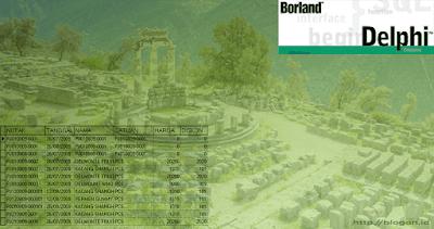 Cara Mengambil Nilai (Value) dari DBGrid - Delphi