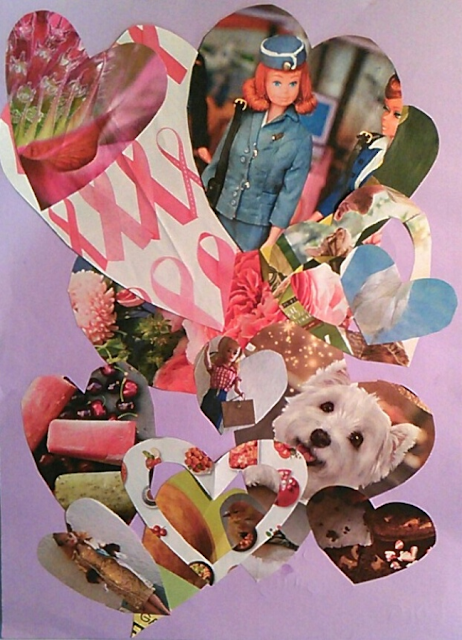 Easy Valentines Day Paper Craft for Kids: Love Collage