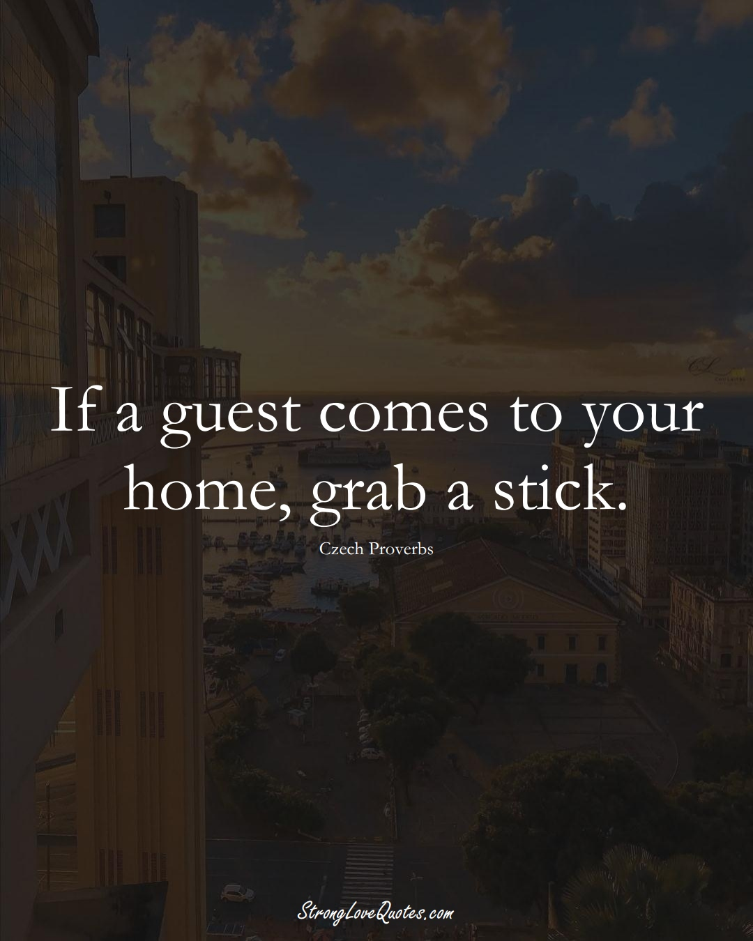 If a guest comes to your home, grab a stick. (Czech Sayings);  #EuropeanSayings