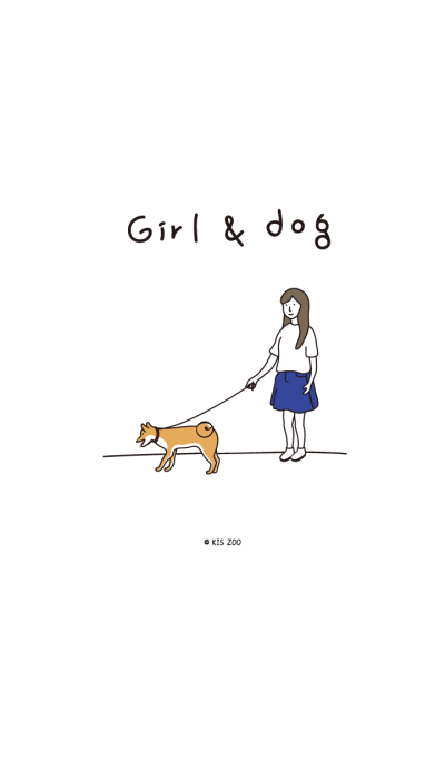 Girl and dogs