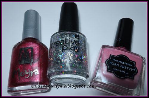 Moyra: #83, CND Creative Play: Bling Toss, Born Pretty Store stamping polish