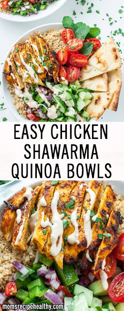 Easy Chicken Shawarma Quinoa Bowl