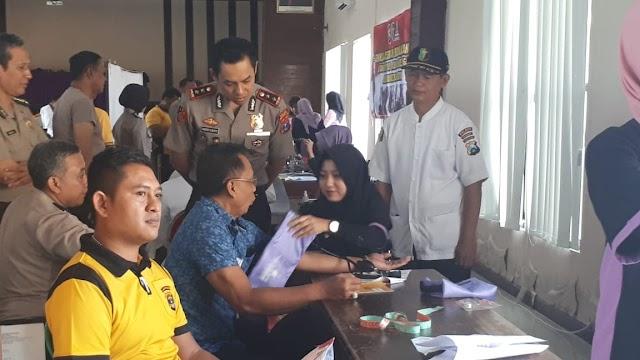 Guna Menjaga Kesehatan Personil Dalam Pelaksanaan Tugas,Polres Nganjuk Adakan Rikkes Berkala