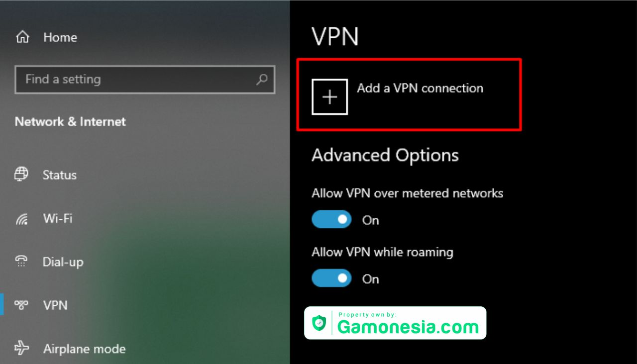cara setting vpn windows 10