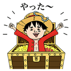 ONE PIECE × Naoko Stickers