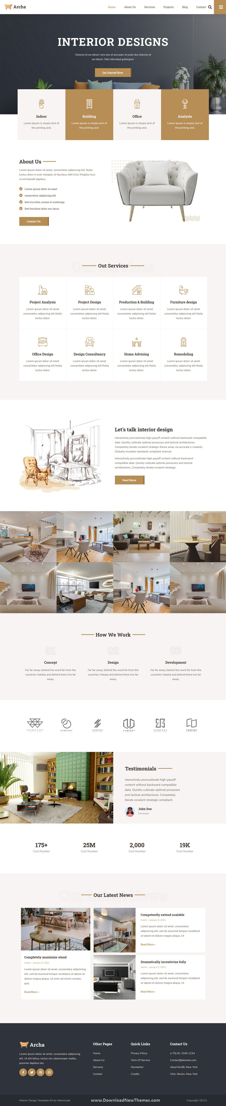 Interior Design and Architecture Elementor Template Kit
