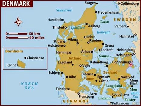 Peta Negara Denmark