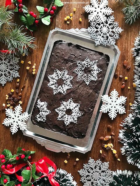 Bożonarodzeniowe ciasto czekoladowe
