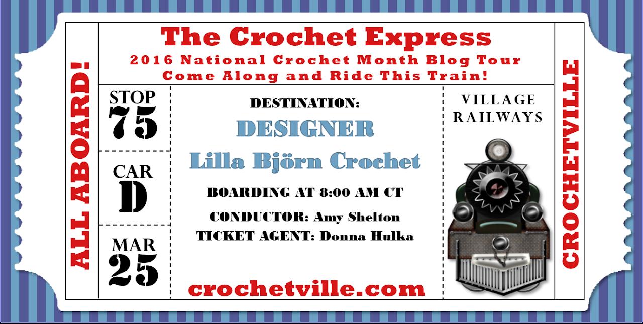 Crochetville Blog Tour 2016 - Lilla Bjorn Crochet