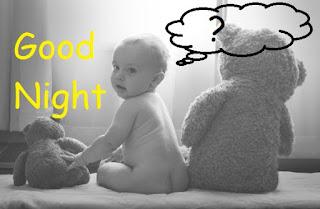 cute teddy bear good night gif