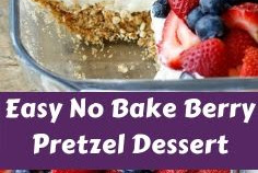 Easy No Bake Berry Pretzel Dessert