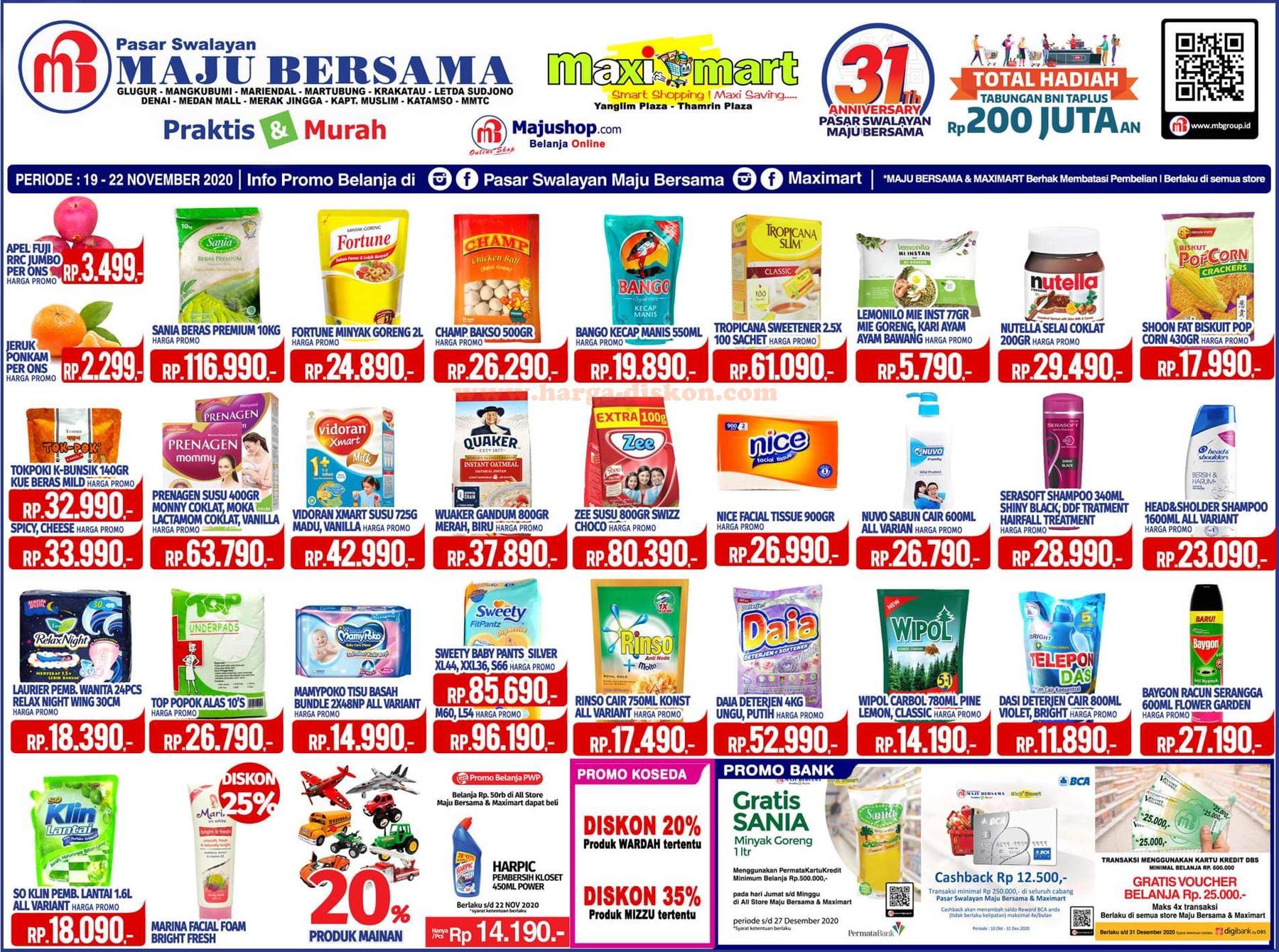 Katalog Promo Maximart Terbaru Akhir Pekan Periode 19 22 November 2020 Harga Diskon