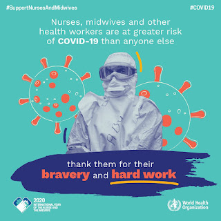 Thank you #nurses #midwives #healthcareworkers #WorldHealthDay