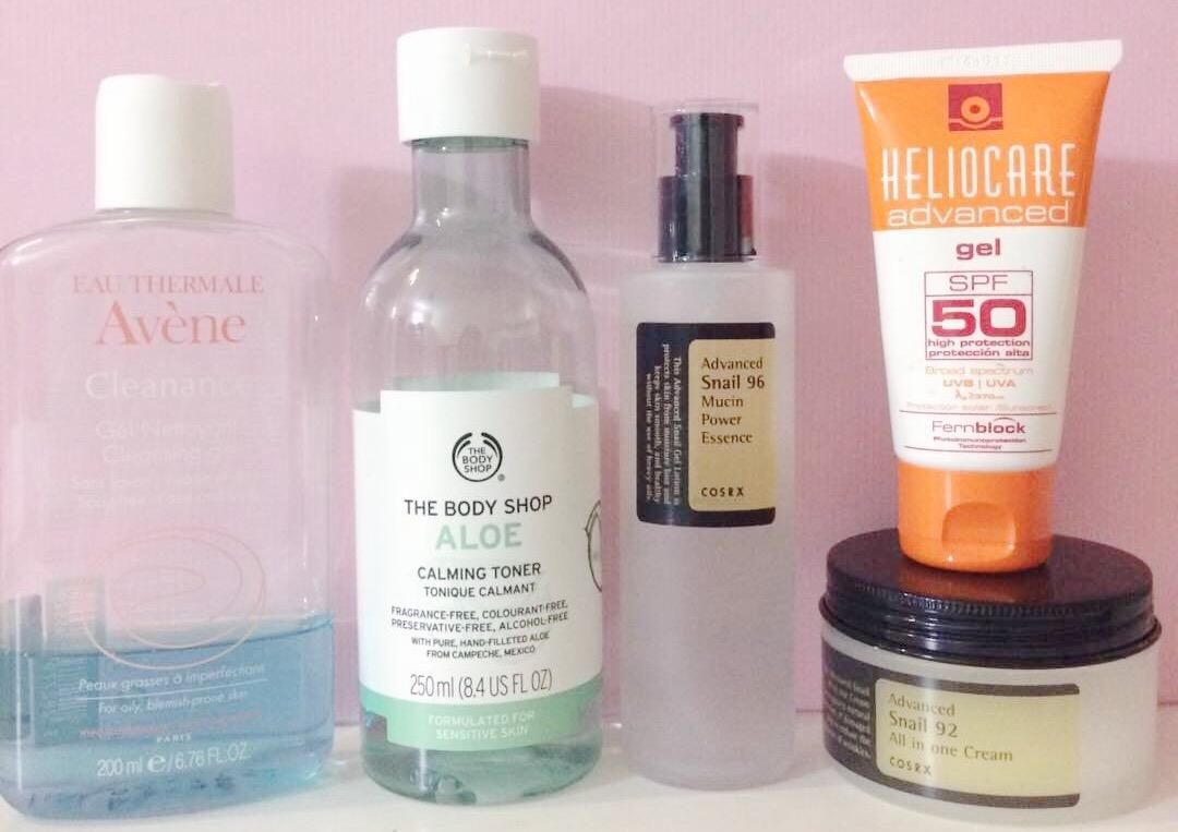 Skincare Routine Combination Acne Prone And Sensitive Skin Type