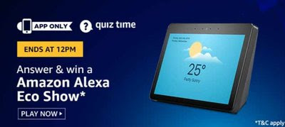Amazon Alexa Echo show Quiz Answers