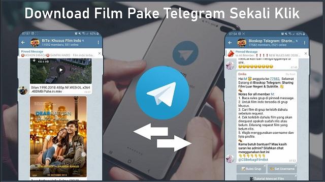 Cara Mencari Film di Telegram
