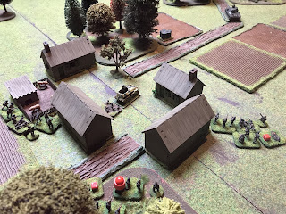 The Germans surround the village