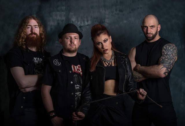 Lesbian Bed Death 2017 L-R Aaron Samedi, Mr Peach, Sienna Venom and stand-in lead guitarist John 'Doctor Powerful' Caci' (Photo by Michael Szabo)