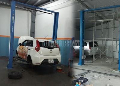 HCM mua cầu nâng ô tô 2 trụ giá rẻ chính hãng mang lại lợi nhuận cho khách hàng