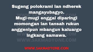 Ucapan Selamat menempuh hidup baru dalam Bahasa Jawa