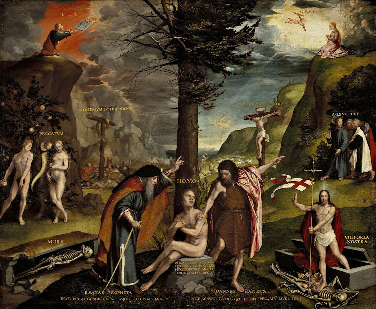 Hans Holbein the Younger - An Allegory of the Old and New Testaments (c.1530)