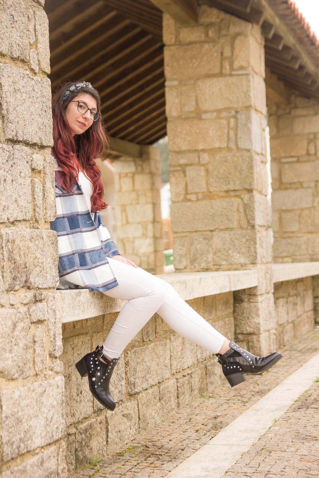 camisa xadrez style=