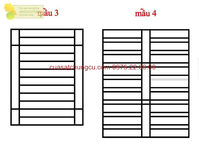 so sánh mẫu thiết kế mẫu 3 và 4 khung cửa sổ an toàn, gọn gàng đẹp