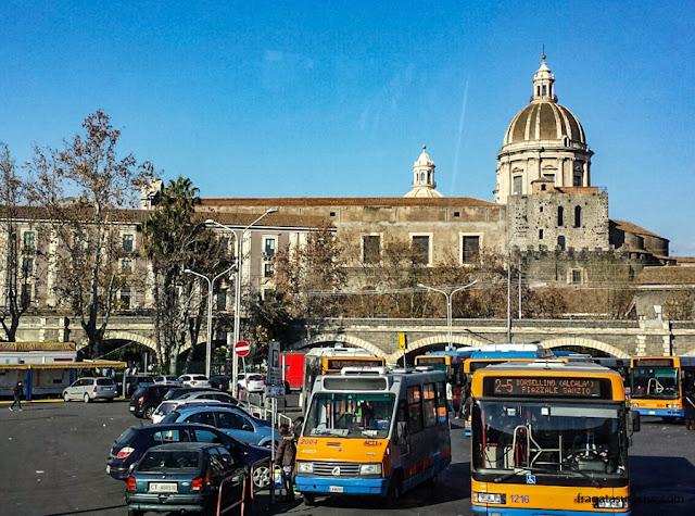 Sicília - ônibus de Taormina para Catânia
