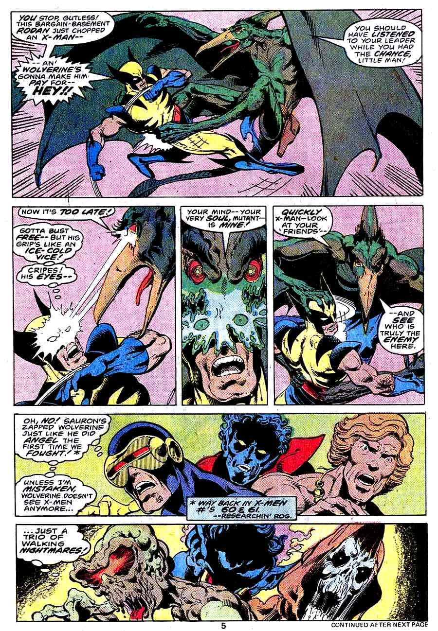 X-men v1 #115 marvel comic book page art by John Byrne