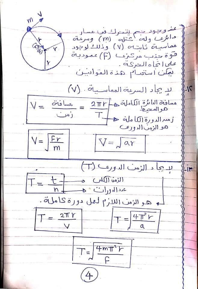 مراجعة كل قوانين الفيزياء اولي ثانوي في ٦ ورقات أ/ امانى منصور 4