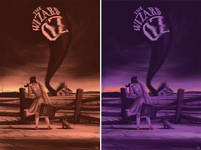 The Wizard of Oz Screen Print by Paul Blow x Mondo