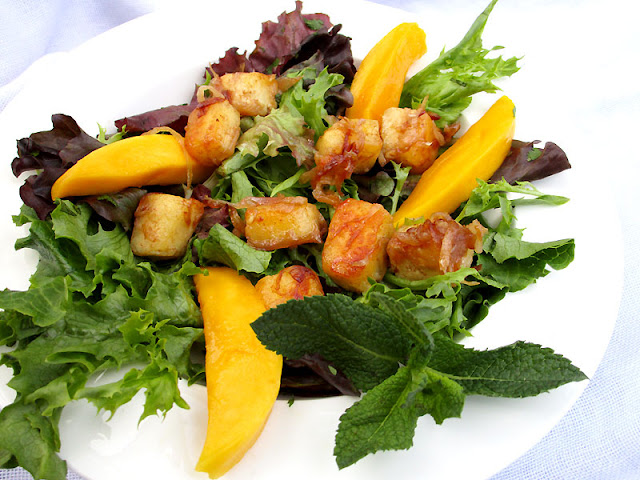 Paneer and Mango Salad